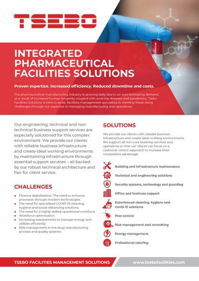 Tsebo Facilities Pharmaceutical Solutions Flyer A4 1