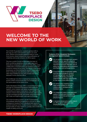 Tsebo Workplace Design Booking System Business Solution A4 1